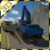 挖掘机转运救援3D simulator-准备抢救车在这种极端的大功率挖掘机转运游戏