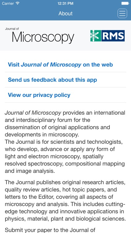 Journal of Microscopy screenshot-4
