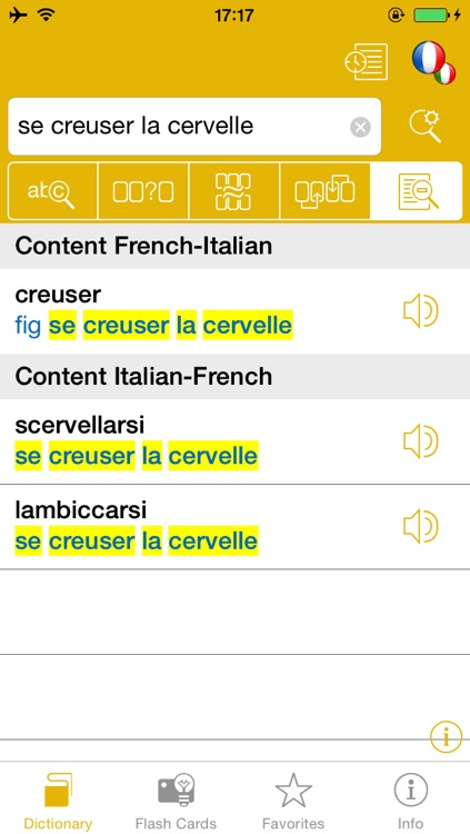 French <-> Italian Talking Dictionary Global Mondadori Langenscheidt screenshot-2