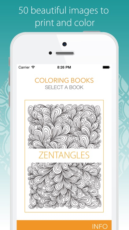 Coloring Book for Adults - PRINT and color 50 intricate drawings for relaxation and mindfulness. screenshot-1