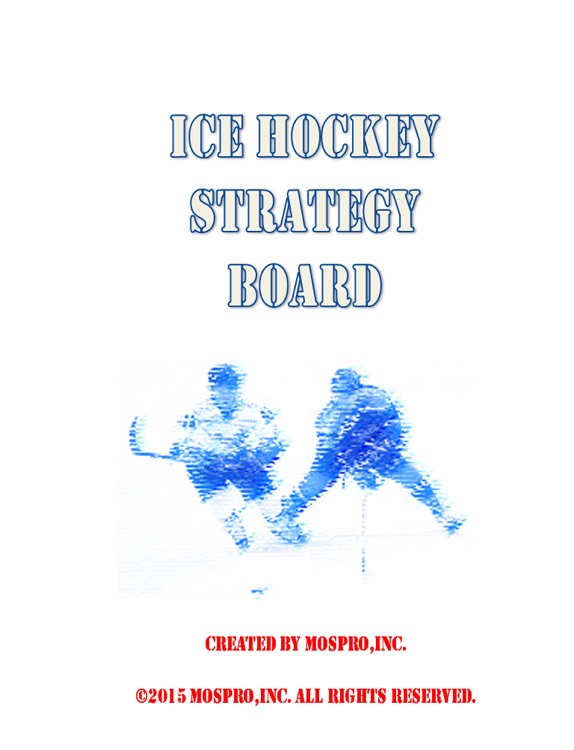Ice hockey strategy board