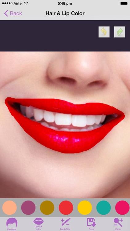 Hair Lip Color Changer screenshot-3