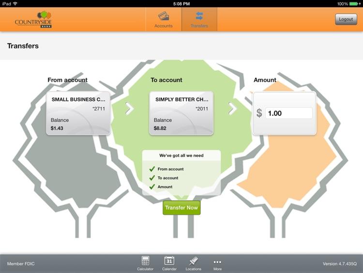 Countryside Bank Tablet Banking screenshot-3