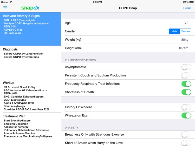 COPD Respiratory Clinical Practice Guidelines by SnapDx screenshot-3