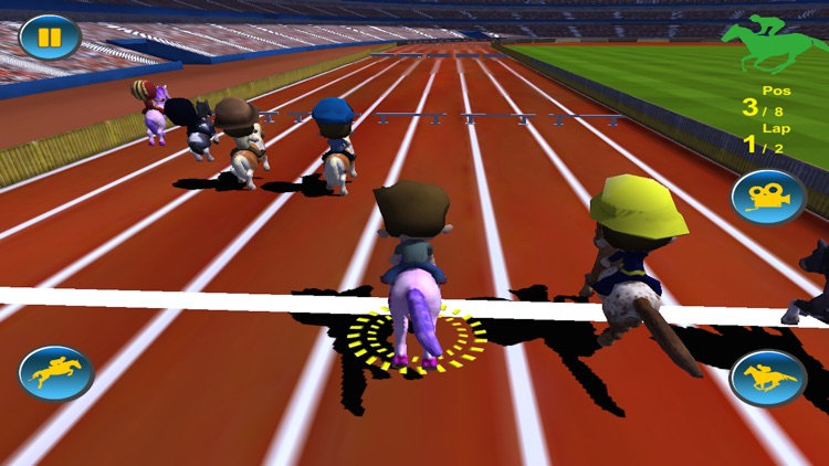 Horse Racing 3D Free (Kids Edition)
