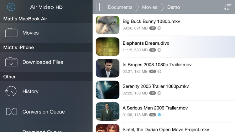 Air Video HD - Now with multitasking and PiP support! screenshot-0