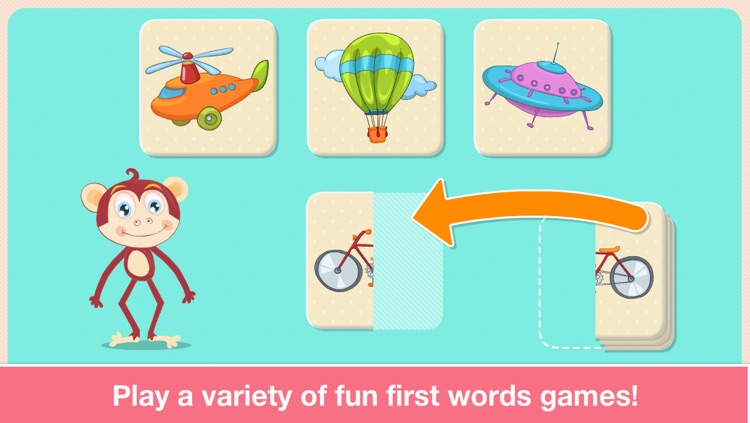 Baby First Words. Matching Educational Puzzle Games for Toddlers and Preschool Kids by Abby Monkey® Learning Clubhouse screenshot-3