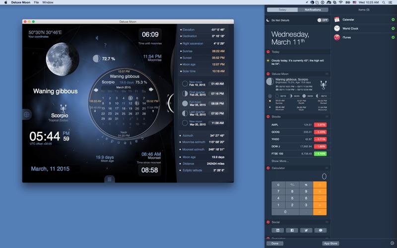 Deluxe Moon HD - Moon Phase Calendar Screenshot