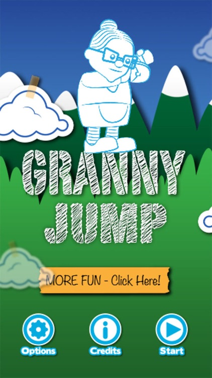 Granny Jump - Steep, Crazy Dive, lady, bungee