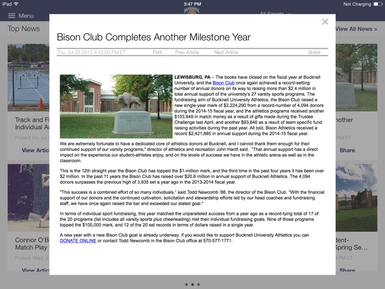 Bucknell Bison for iPad 2015 screenshot-4