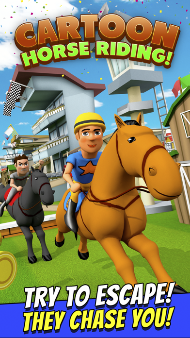 Cartoon Horse Riding Free - Horsemanship Equestrian Race