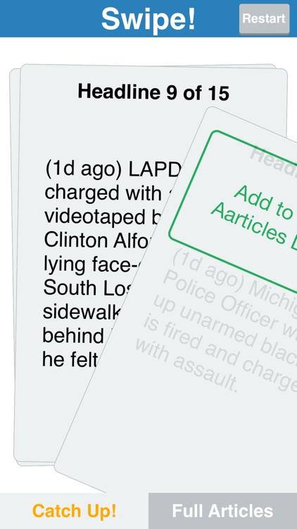 ASAP News Aggregator - Swipe Top 5, 9 or 12 Update Summaries