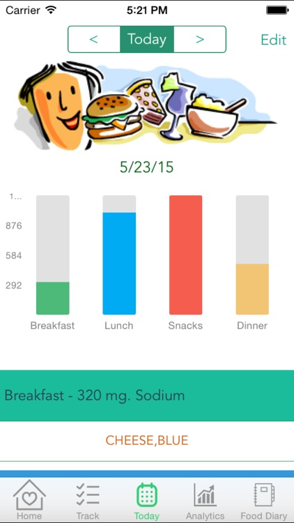 Sodium Cravings – Control blood pressure with Sodium Tracker that manages salt food craving and enables healthy food choices screenshot-3