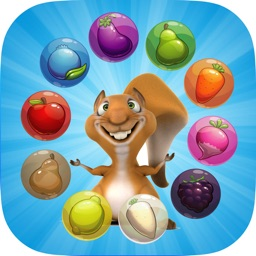 Squirrel Pop Bubble Shooter Fruit Saga : Match 3 Hd Free Game