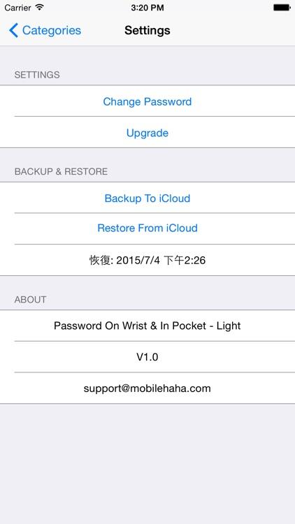 Password On Wrist & In Pocket - Light screenshot-4