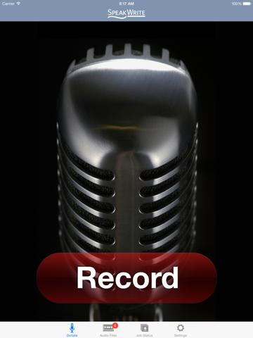 Screenshot of SpeakWrite