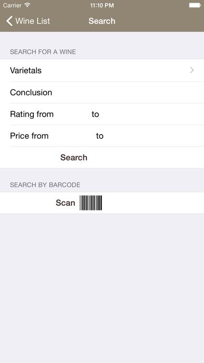 Mobile Wine Diary screenshot-3