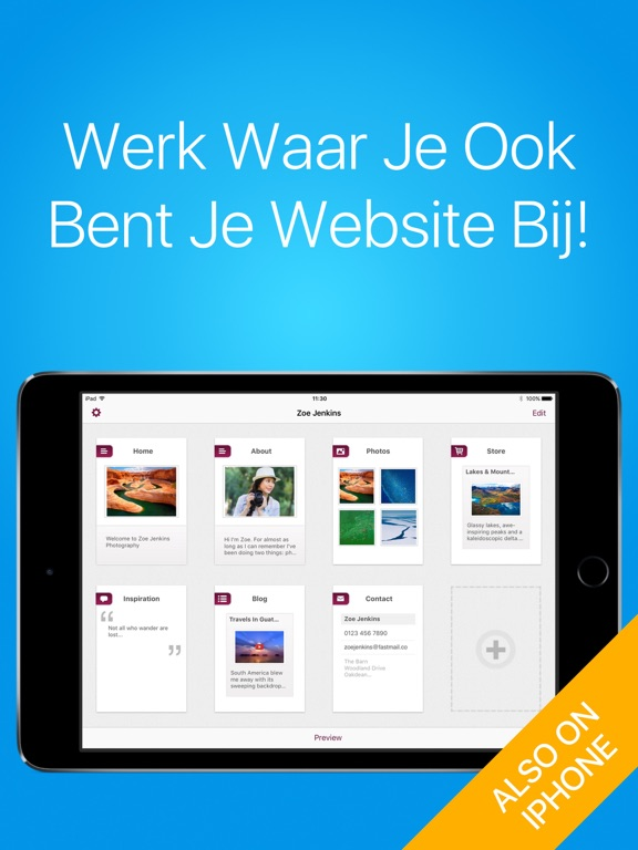 Simpl website builder maak eenvoudige websites app for Badkamer ontwerpen app ipad