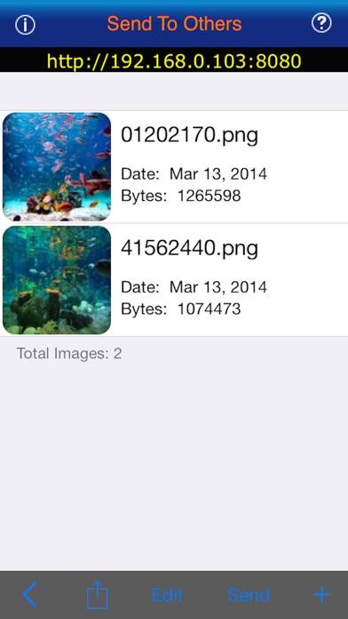 eTransfer Screenshots