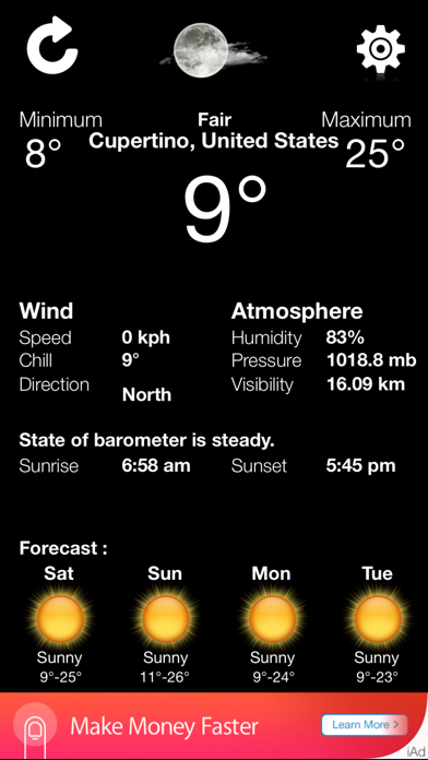 weather exact condition - accurate and updated local forecast applicationのおすすめ画像1