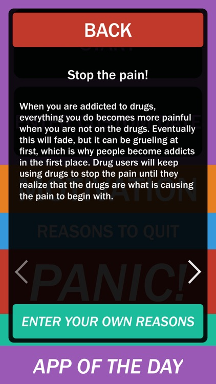 No Drugs Calendar - Stop doing drugs and get on a path to clean living!