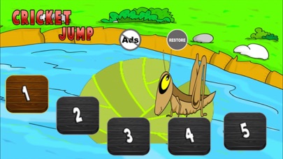 Cricket Jump - Keep The Grasshopper In The Pond