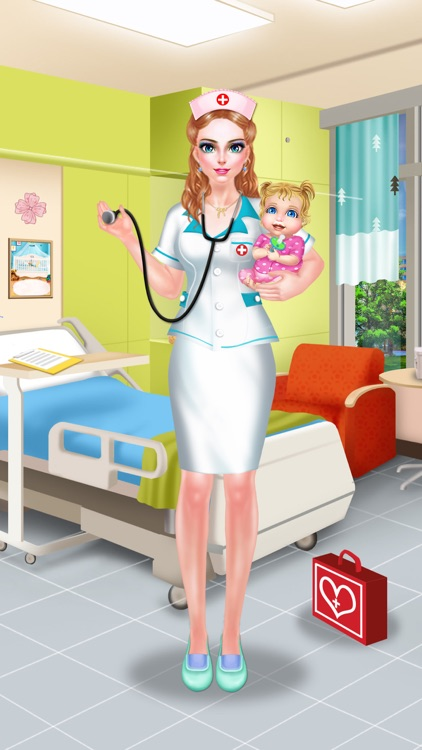 Nurse & Newborn Baby - Hospital Makeover & Dress Up screenshot-4