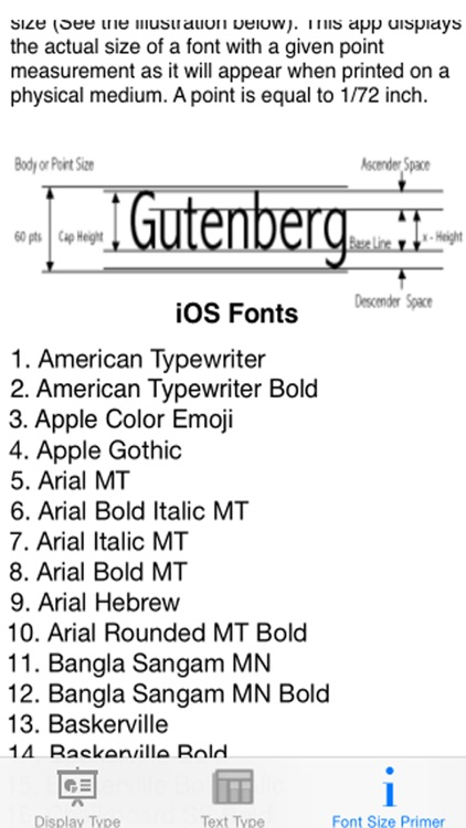 Font Sizes screenshot-4