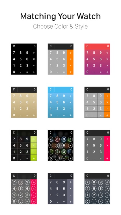 Color Calculator for Apple Watch
