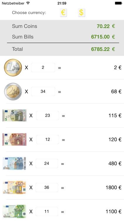 Money Counter (EUR, USD)