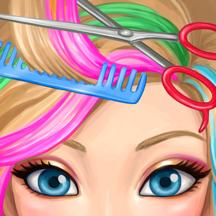 Hair Salon Makeover - Cut, Curl, Color, Style Hair