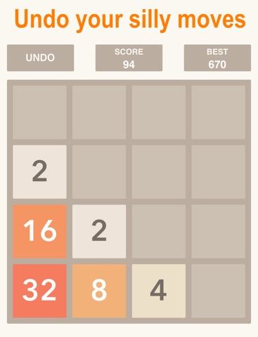 2048 UNDO Plus, Number Puzzle Game Free HD-ipad-0