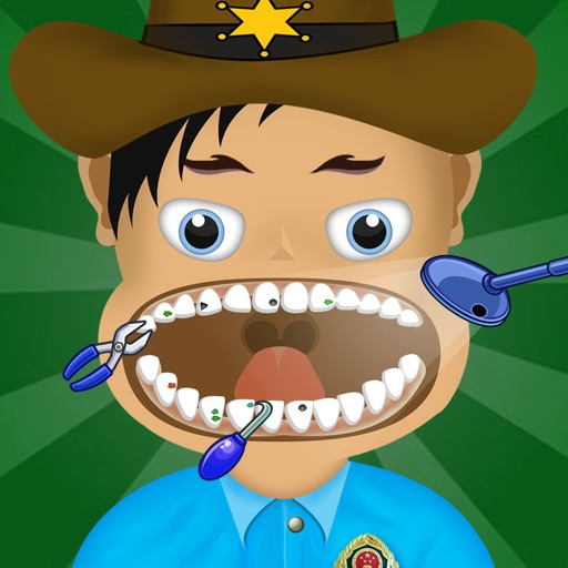 American Police Dentist Mania - crazy teeth doctor game icon