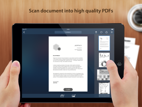 Screenshots of Tiny Scanner - PDF scanner to scan document, receipt & fax for iPad