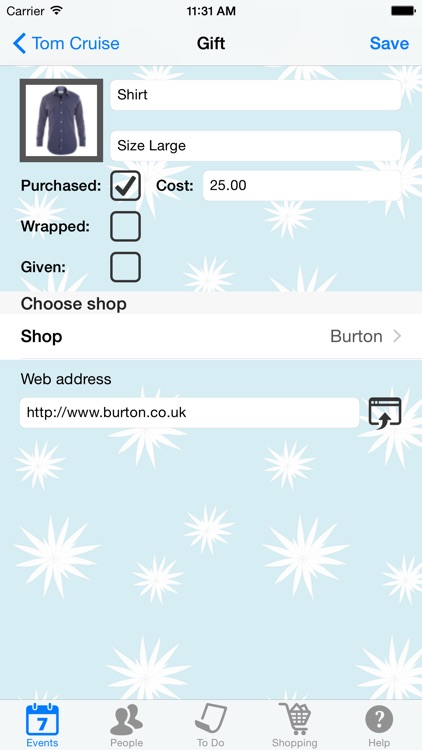 Gift List screenshot-3