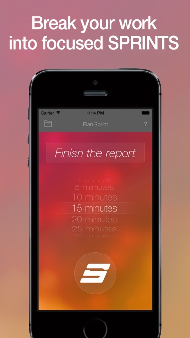 SPRINTS - Unique Task Timer / Work Alarm Clock for Better Productivity and Focus Screenshot