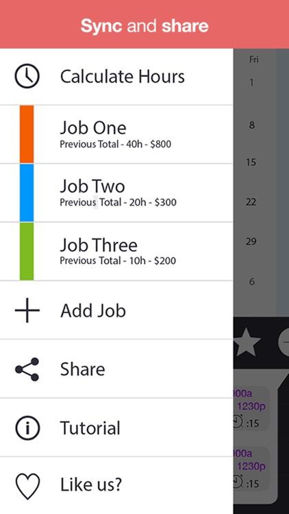 WorkTime - Work Schedule, Shift Calendar & Job Manager screenshot-4