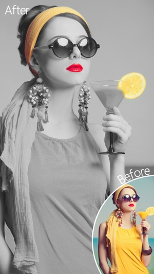 Dash of color black white colorful photo editor with grayscale effects on the app store