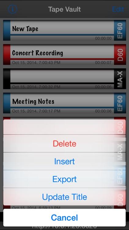 Tapes Lite screenshot-3