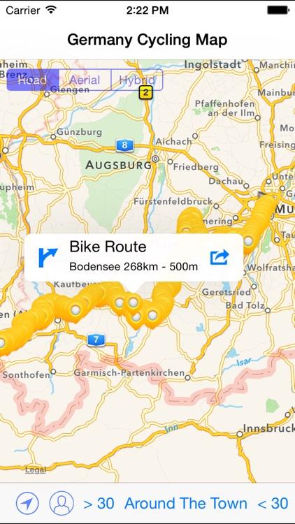 Germany Cycling Map screenshot-3