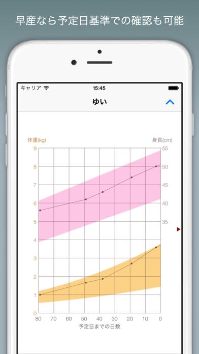 赤ちゃんの成長グラフ Lite ScreenShot2