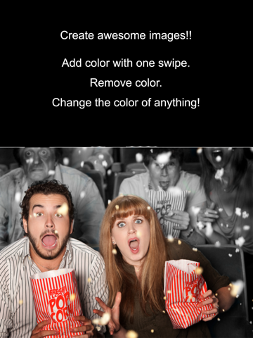 Screenshots of Color Effects - Recolor Pictures; Pop/Edit/Paint Photo Highlights into Twitter and Instagram for iPad