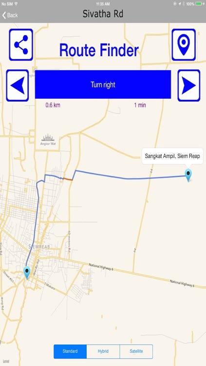 Siem Reap Offlinemaps With Route Finder