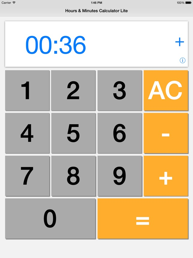 Hours Minutes Calculator Lite On The App Store
