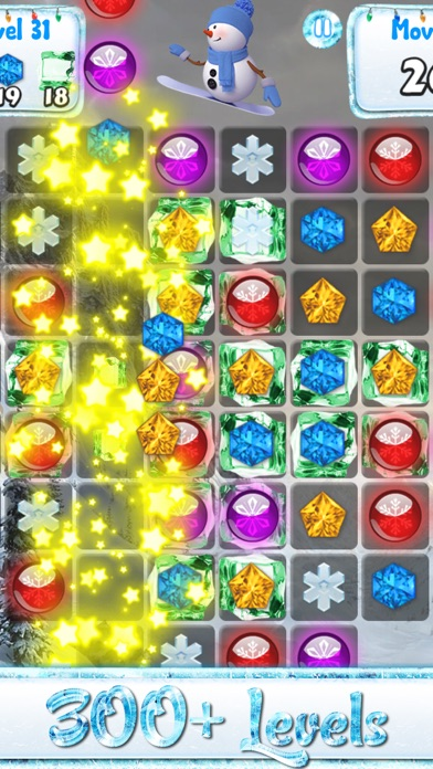 この休日のカウントダウンの一致雪や凍結した宝石 - 雪だるまのゲームとクリスマスパズルのおすすめ画像4