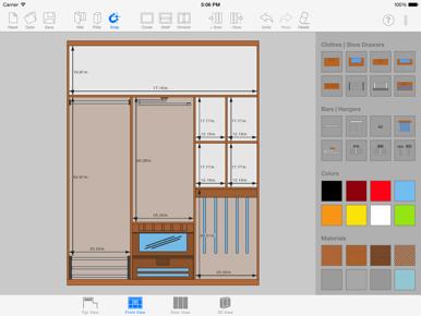 Descargar sketch arm 3d closet designer para iphone for 3d wardrobe planner