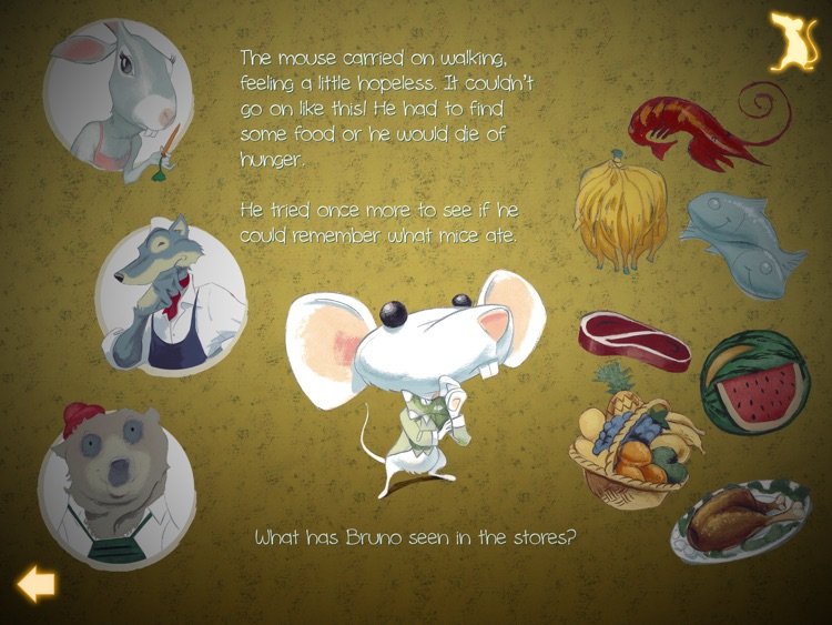 What mice eat - Interactive book for children