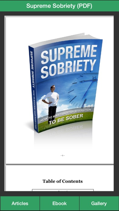 Sobriety Guide - Succeeding at Your Sober Resolutions! screenshot two