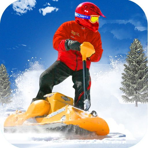 Snow Powerboard Racing ( 3D Speed Sports Power board stunts racing offroad game on Fast ice road tracks with real ragdoll physics )