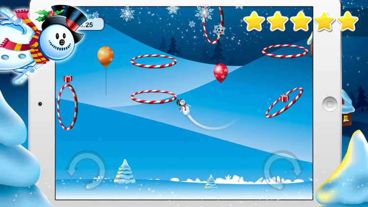 Frozen Snowman Winter Snow Fall - Flying through the Sky Free Game screenshot-3